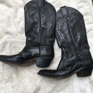 Ladies cowboy boots lizard